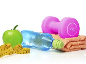 towel-water-bottle-weights-tape-fruit-smaller
