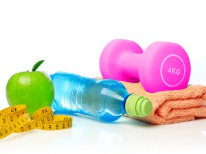 towel-water-bottle-weights-tape-fruit-smaller
