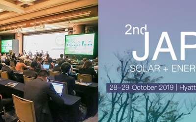 "Our CEO, Nicolas Payen, talking at the ""2nd Japan Solar Energy Storage"""