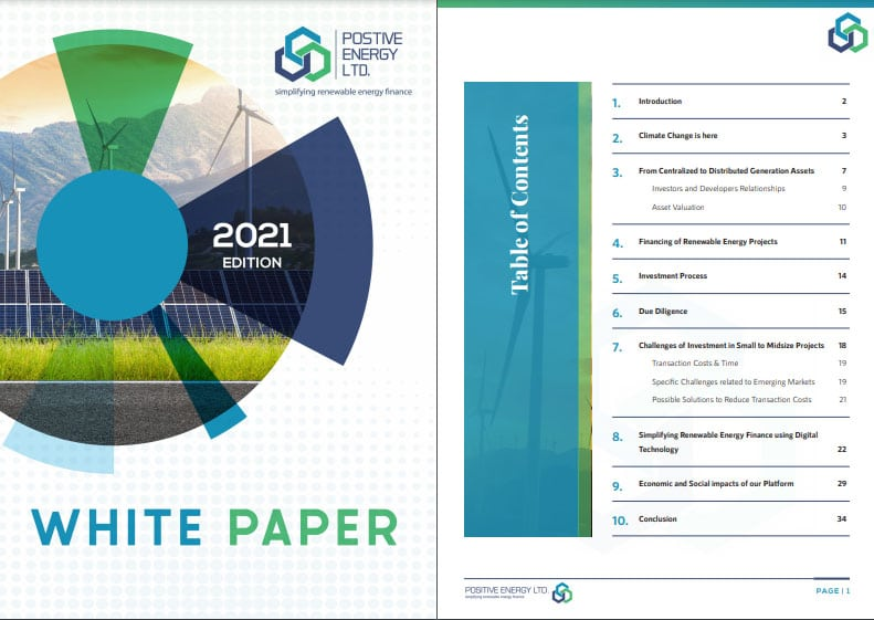 White Paper – 2021 edition: Simplifying renewable energy finance with digital technology