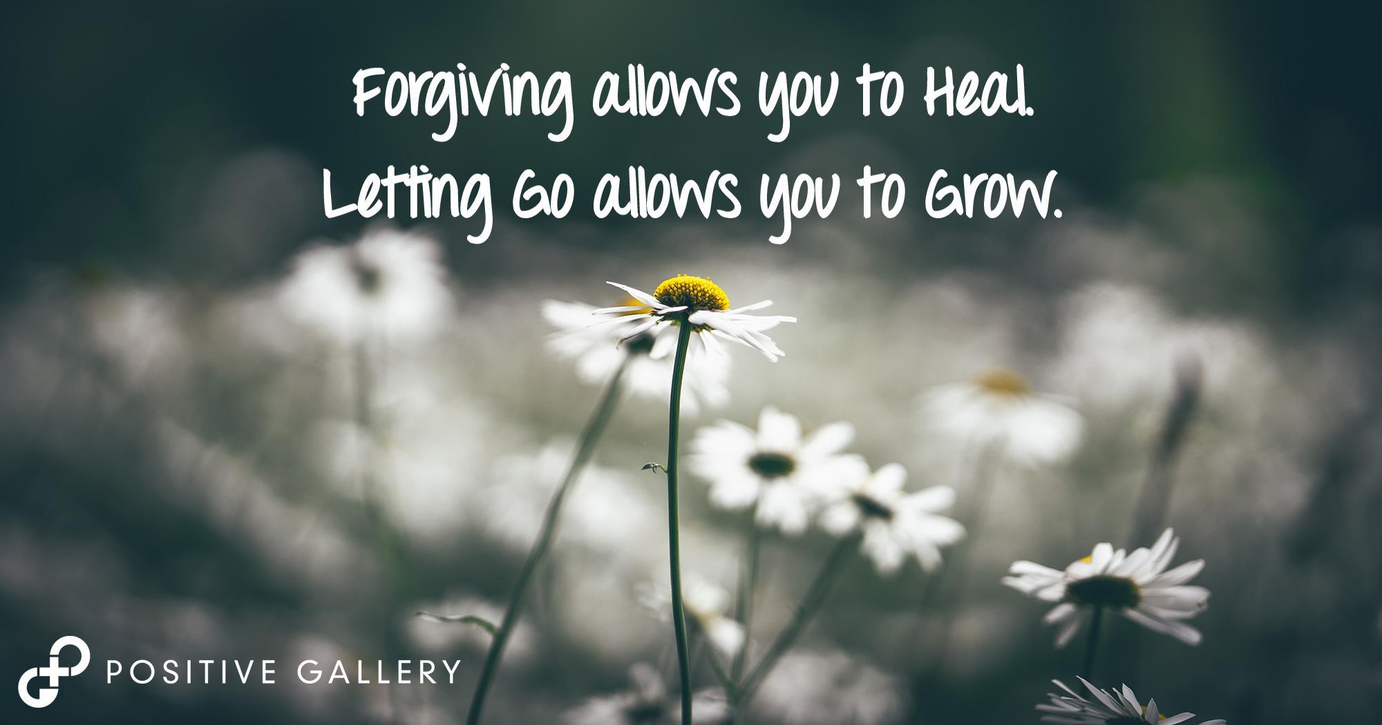 Forgiving Helps You Heal…