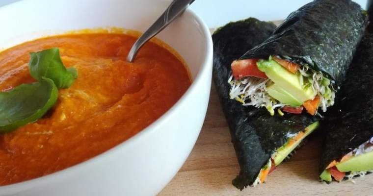 Low-FODMAP Tomato and Carrot Soup