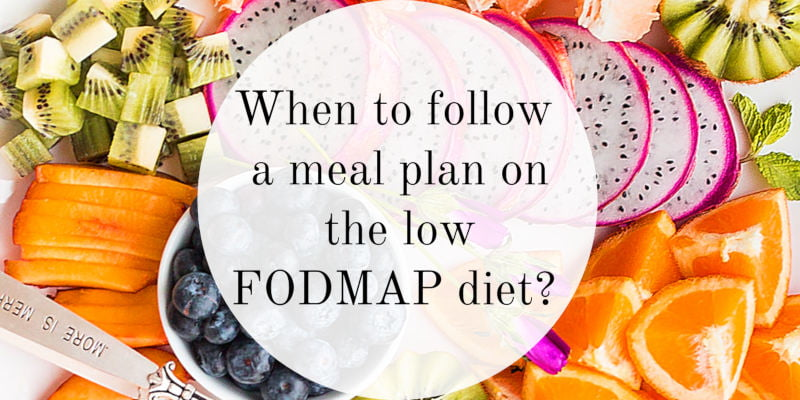 Is het nuttig om een weekmenu te volgen tijdens het FODMAP Dieet?