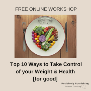 poster for free online workshop weight loss for health
