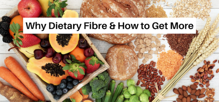assortment of foods high in dietary fibre