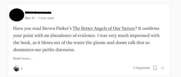 Steven Pinker blog