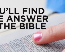 You'll Find the Answer in the Bible