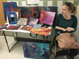My first mini- art show; this is both a pain distraction therapies and my #1 fundraiser for Newbie Tubies.