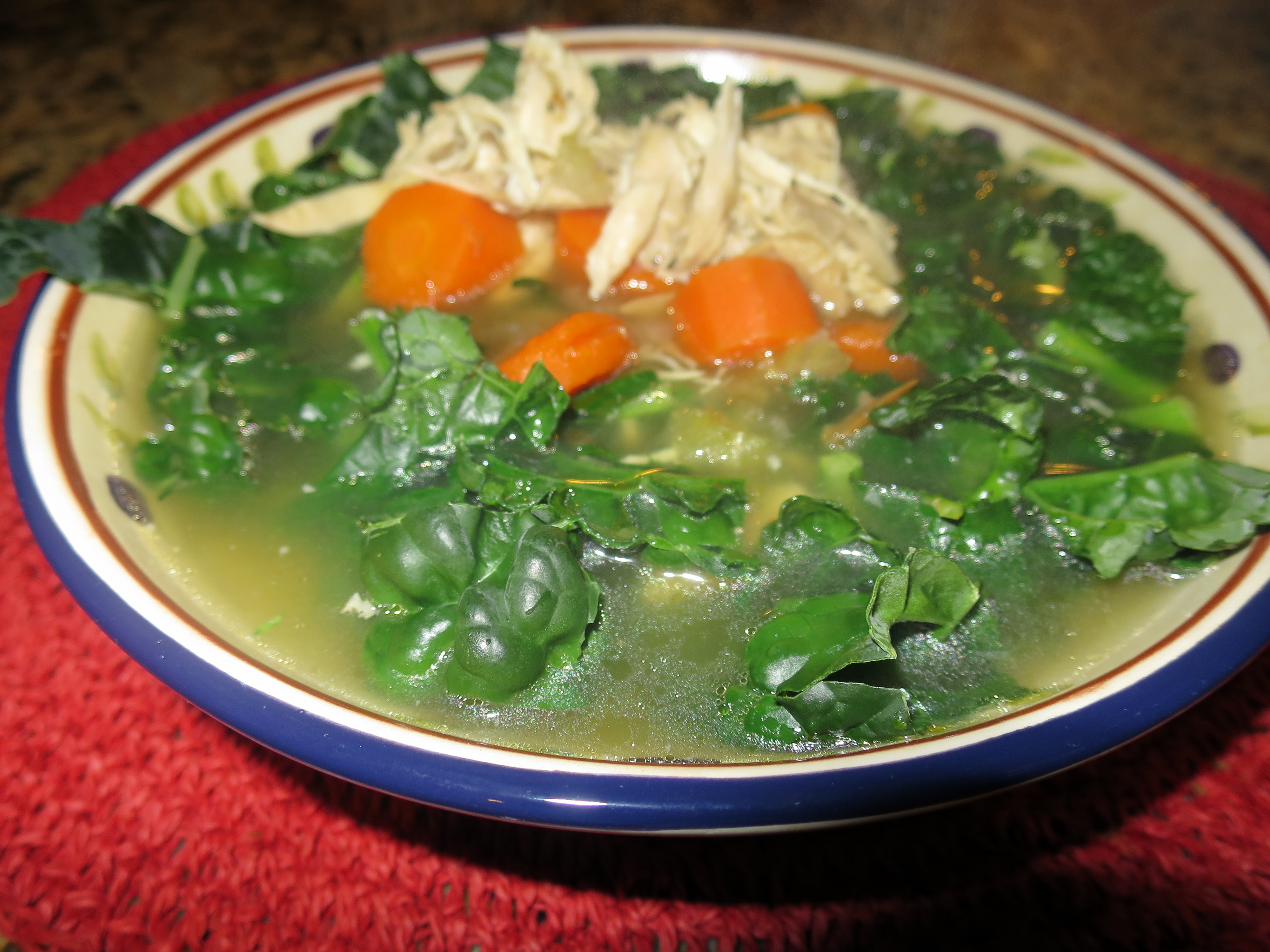 Homemade Chicken Soup With Fresh Kale Recipe