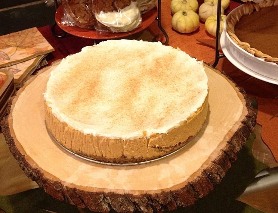 Pumpkin Amaretto Cheesecake
