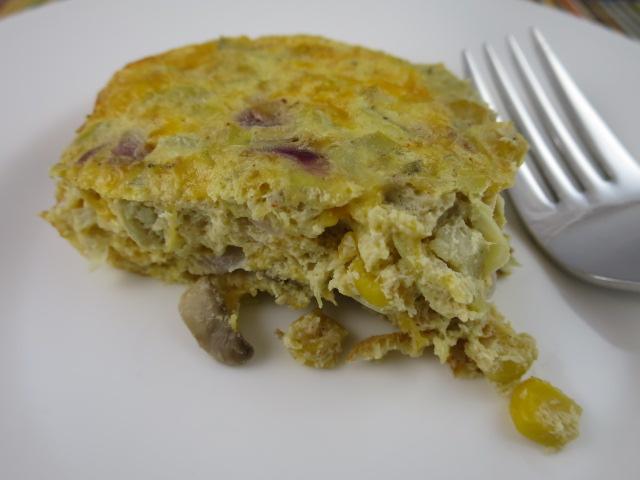 Cheesy Mushroom & Artichoke Breakfast Casserole