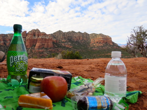 Picnic on Bell Rock in Sedona
