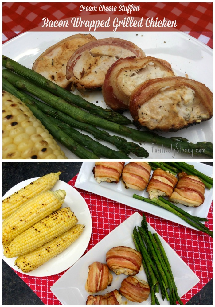 Cream Cheese Stuffed Bacon Wrapped Chicken Breast - this is delicious! It so so easy to put together and can even be prepped ahead of time.