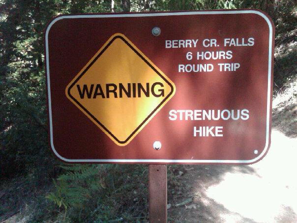 Hike Warning