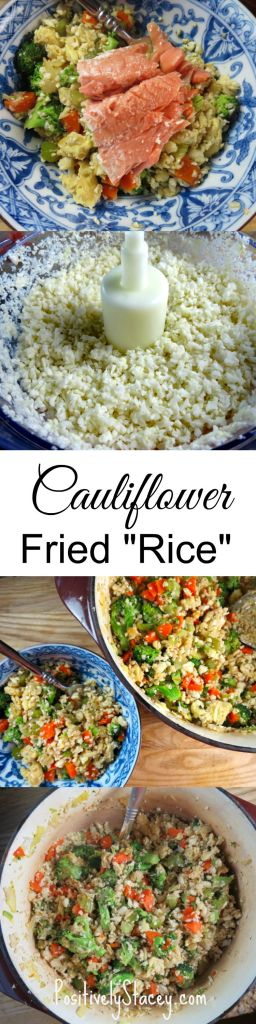 This Cauliflower Fried Rice is amazing! Delicious #cleaneating at its best! And the kids loved it! Add this to your family recipe book!