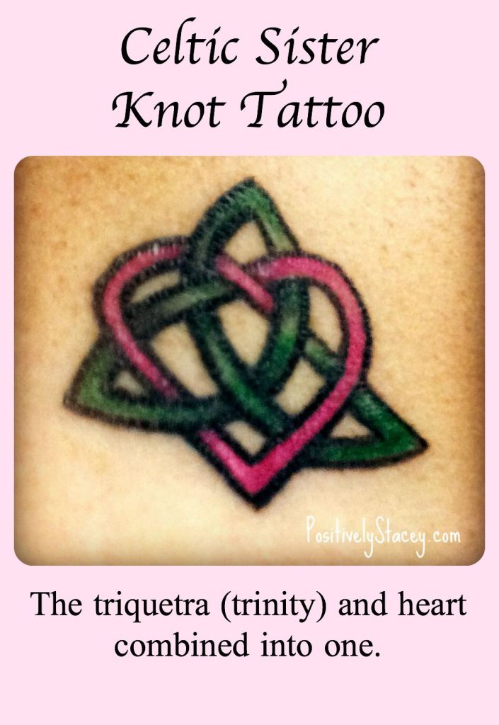 I love this tattoo! It has so much meaning for me - strength, love, eternity, and my sister all rolled up into one!