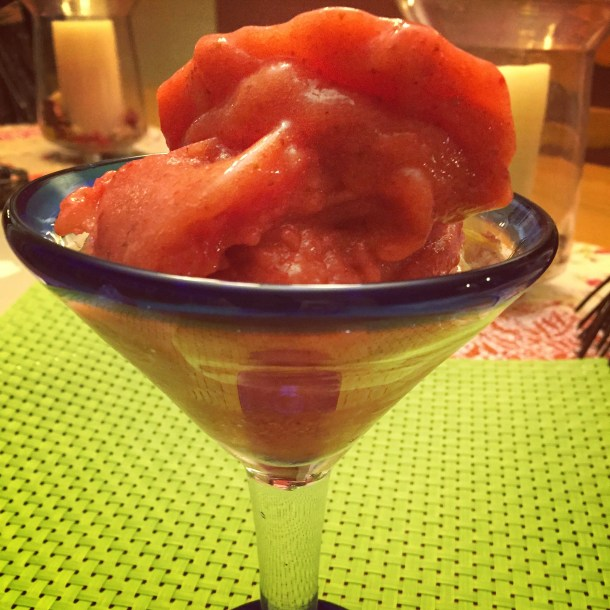 Strawberry Lime Sorbet