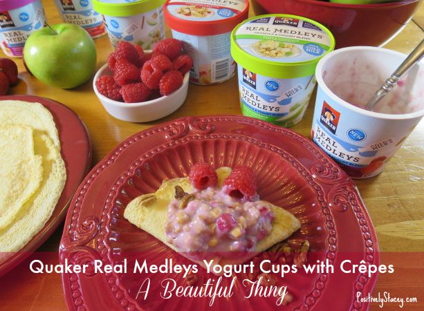 Quaker® Real Medleys® Yogurt Cups with Crêpes - A Beautiful Thing