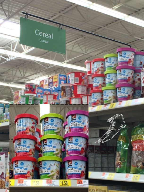 Quaker Medleys Yogurt Cups are found in either the cold or ready-to-eat cereal aisles.