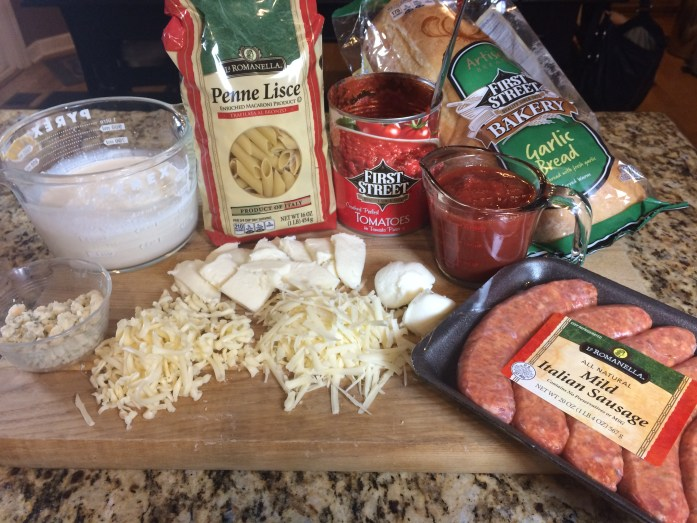 Five Cheese Penne Ingredients