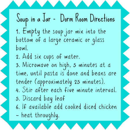 soup in a jar directions