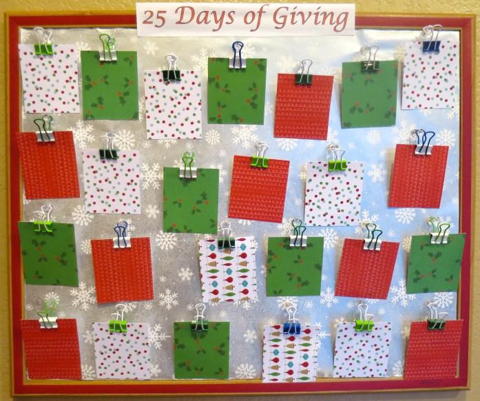 25 Days of Giving Calendar