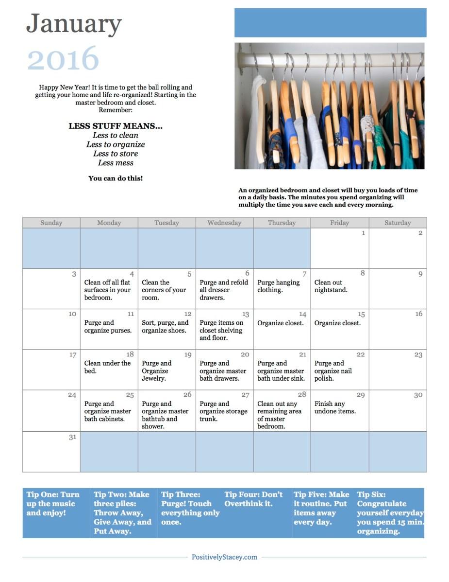 January 2016 Organization Calendar copy