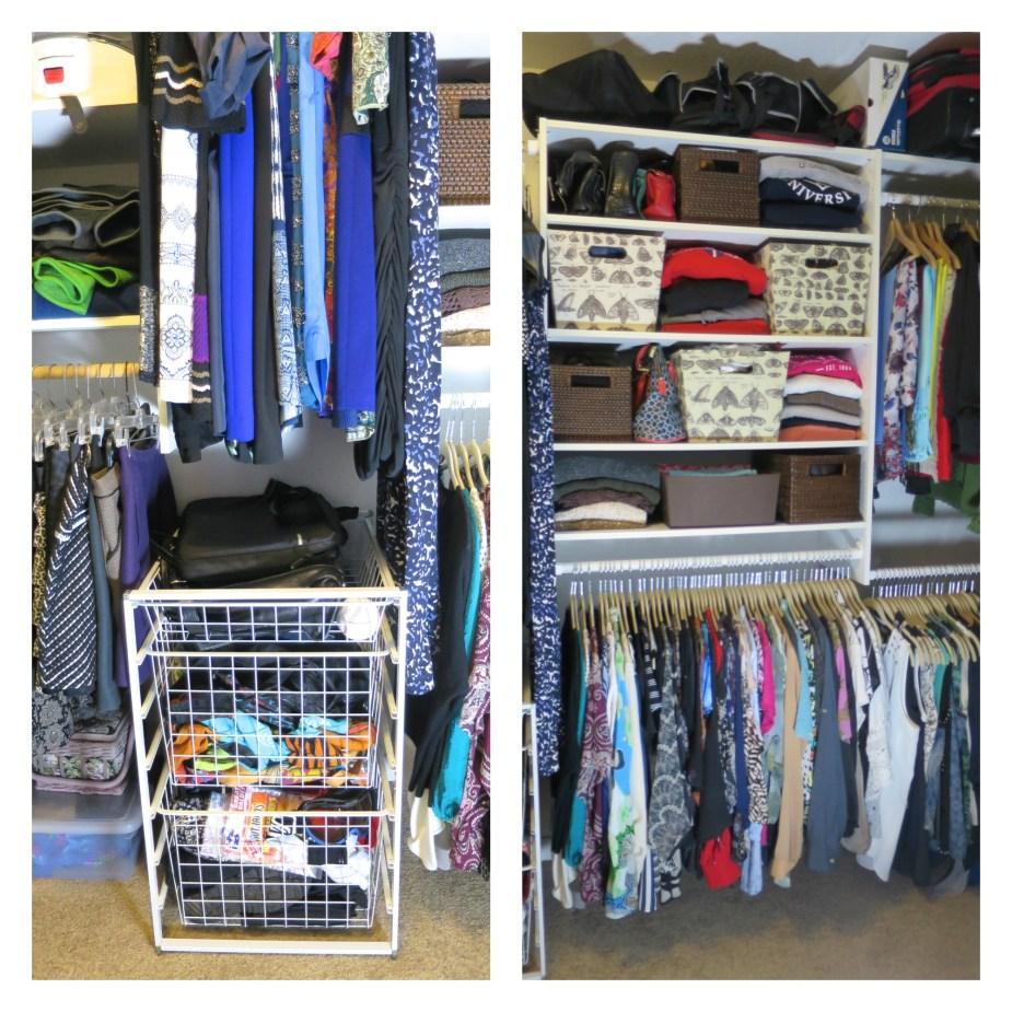 My Closet Re-Organization Sides