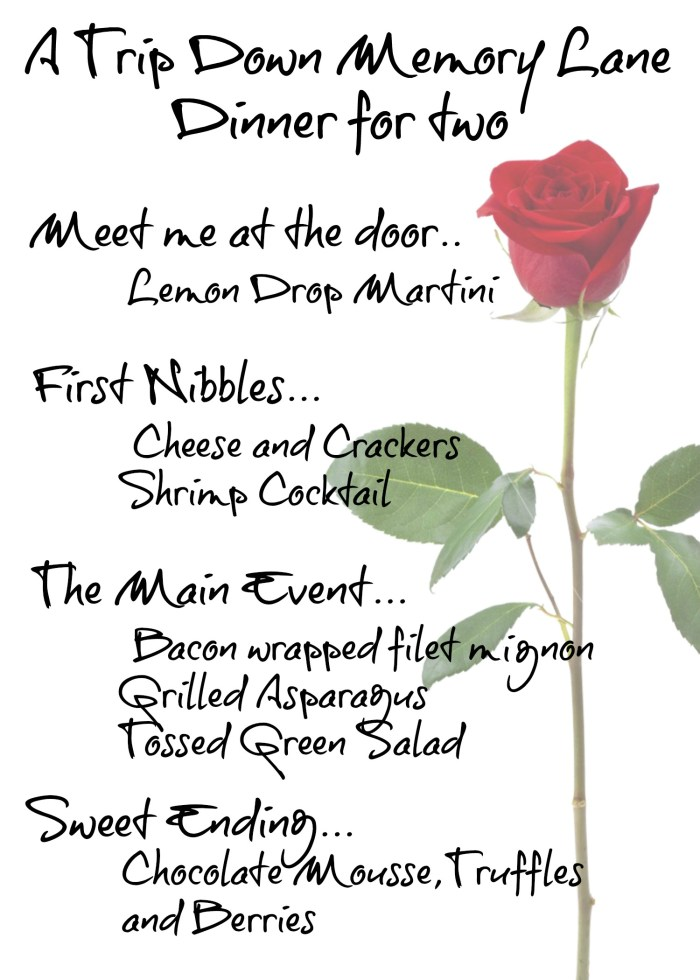 Romantic Dinner Menu