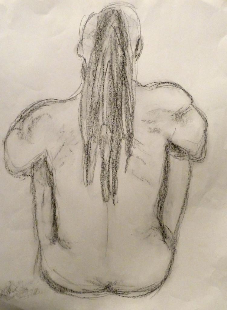Sketch Nude Man Art