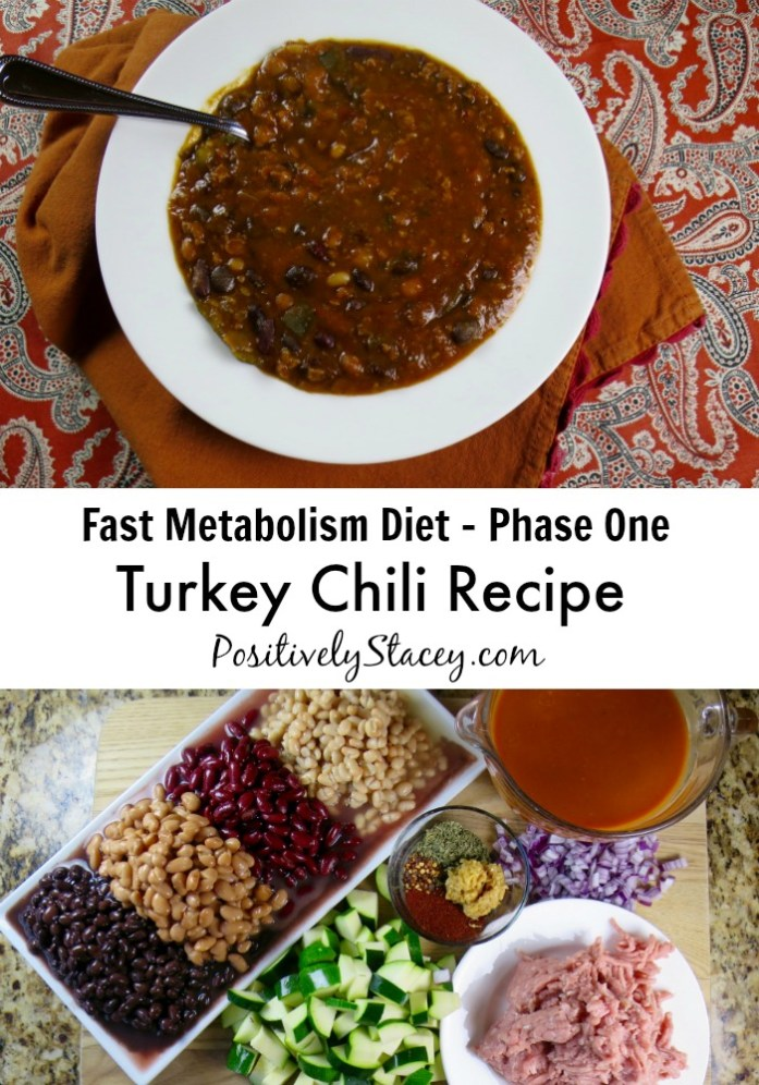 Turkey Chili Recipe - FMD Phase One. This chili is delicious and is part of the Fat Metabolism Diet.