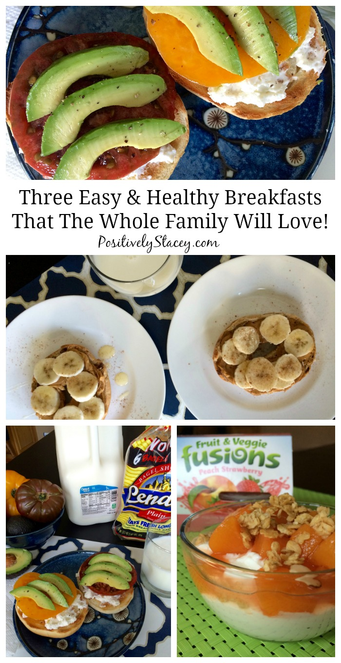 Here are three easy and healthy breakfasts that the whole family will love!