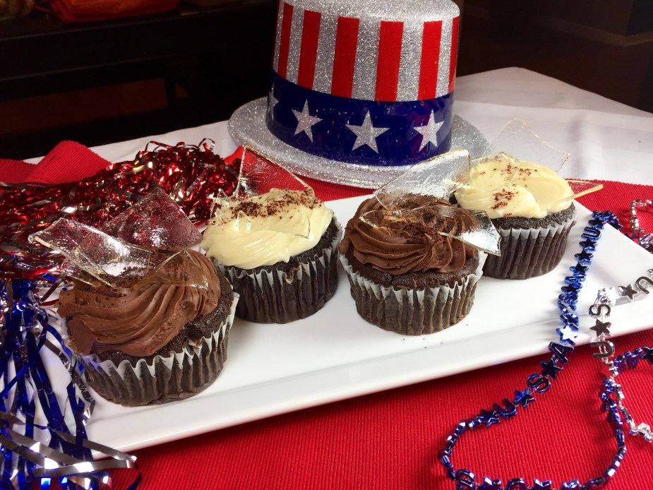 Breaking the Glass Ceiling Celebration Cupcakes