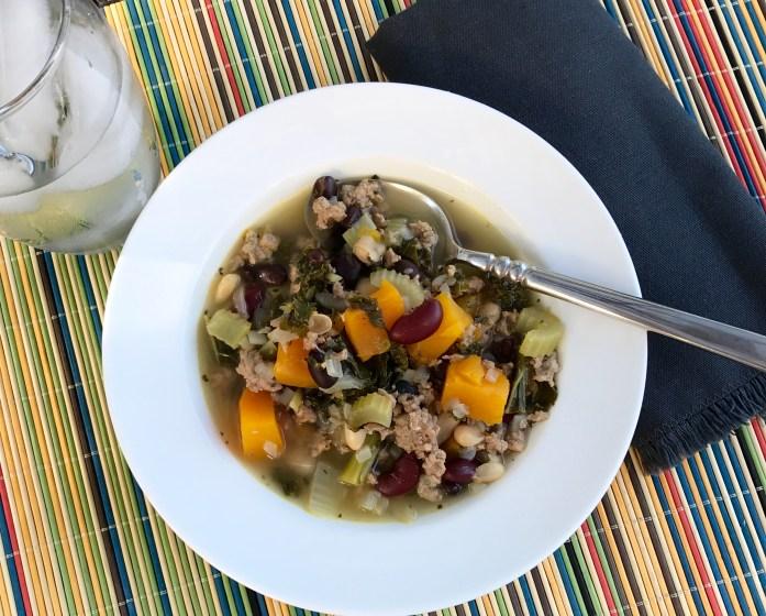 Turkey, Kale, and Butternut Squash Soup Recipe