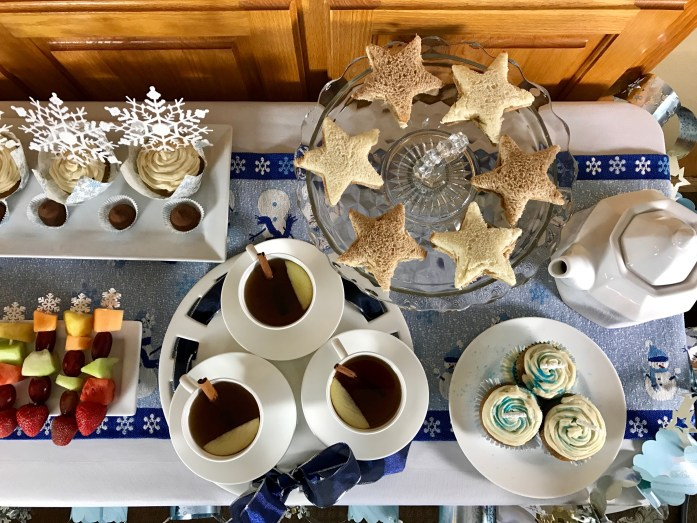 A Child's Winter Wonderland Tea Party Menu