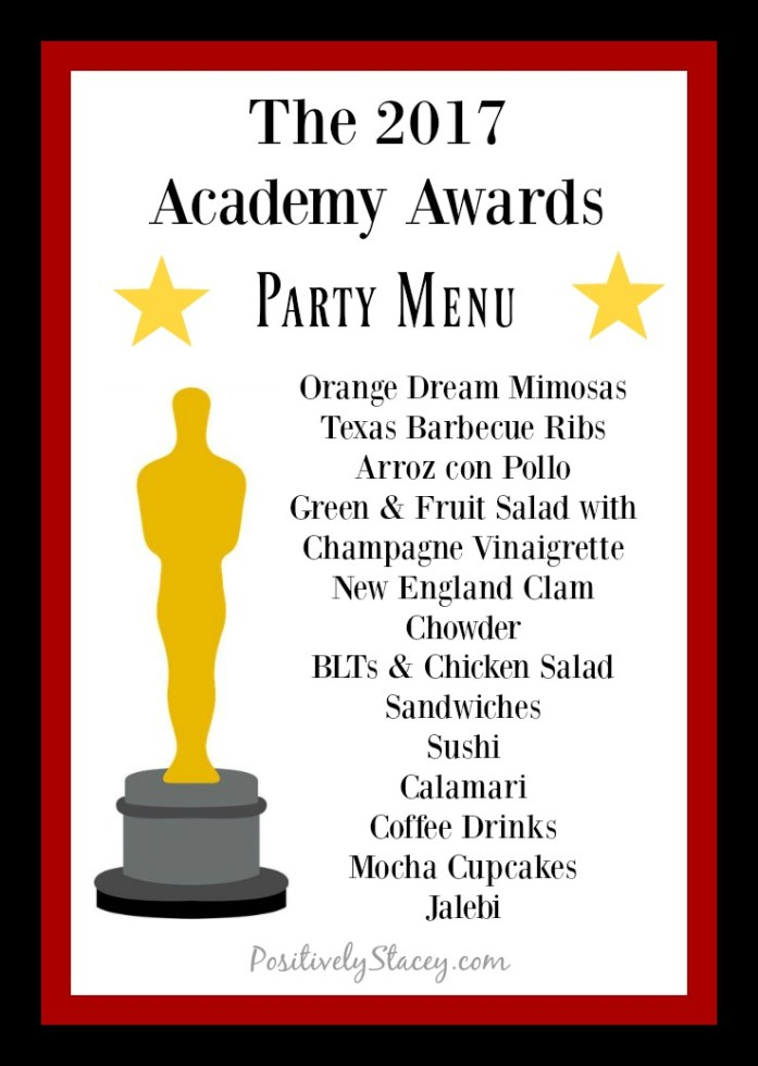 The 2017 Academy Awards Party Menu
