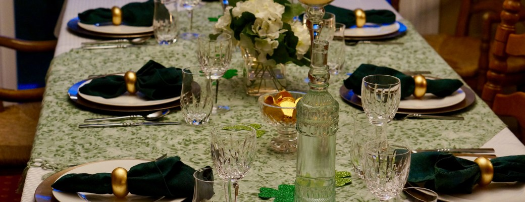 A Saint Patrick's Day Table and Dinner Menu