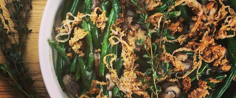 Lower Carb Green Bean Casserole #SundaySupper