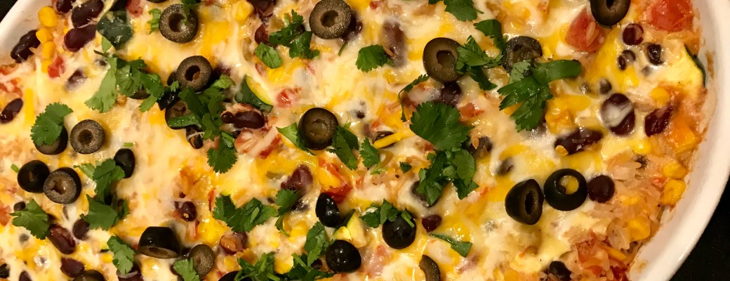 Tex Mex Vegetarian Bake Freestyle Recipe #SundaySupper