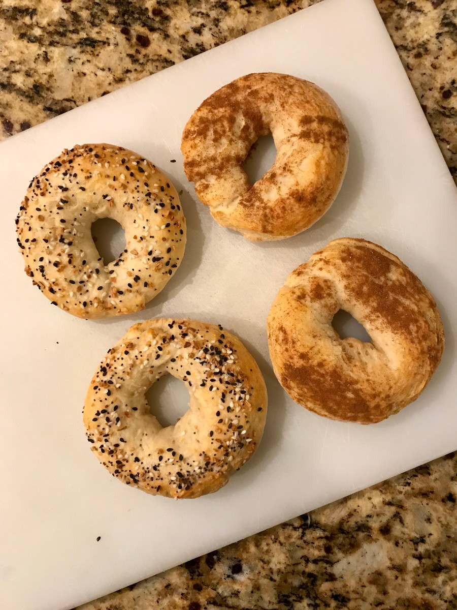 Two Ingredient Healthy Bagels
