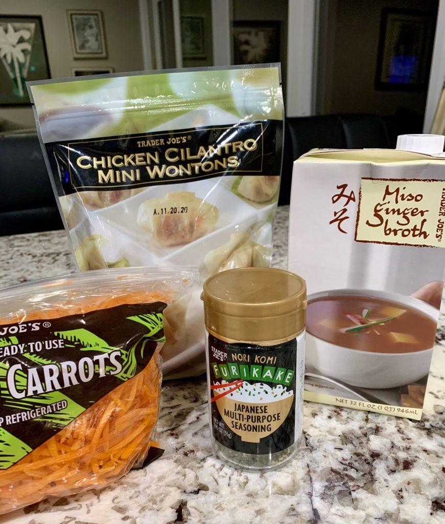 Chicken Cilantro Wonton Soup