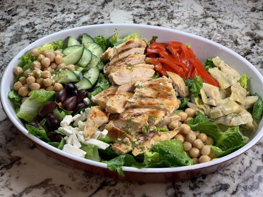 Greek Lemon-Dill Grilled Chicken Salad