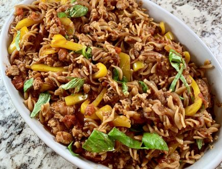 Sweet Chicken Italian Sausage and Pepper Pasta