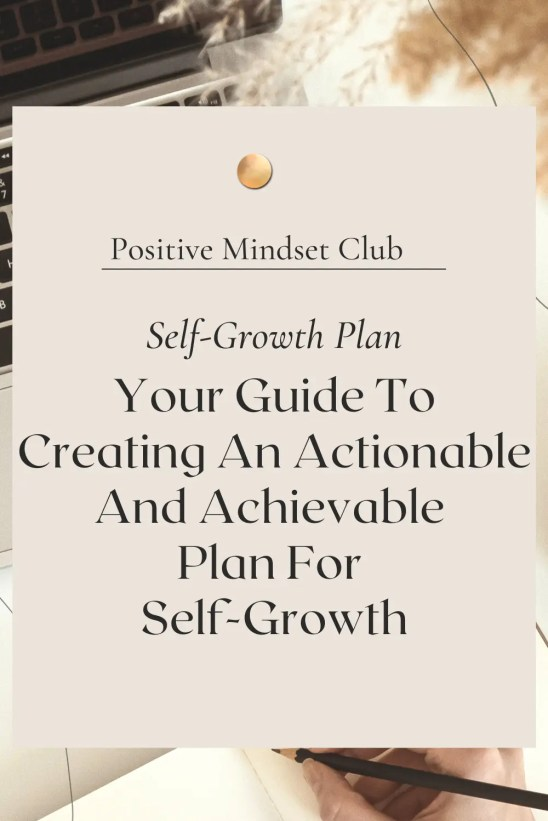 How to create a self-growth plan