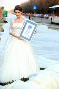 It Measured 1579 Metres And The Dress Weighed 300 Kilograms Was Created At A Special Event Dedicated To Weddings In 2009 By E Marriage Fest