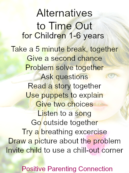Discipline for Young Children: 12 Alternatives to Time Outs