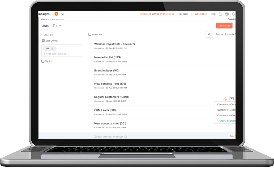 Manage subscribers quickly and easily
