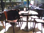 My desk at Café Mojo