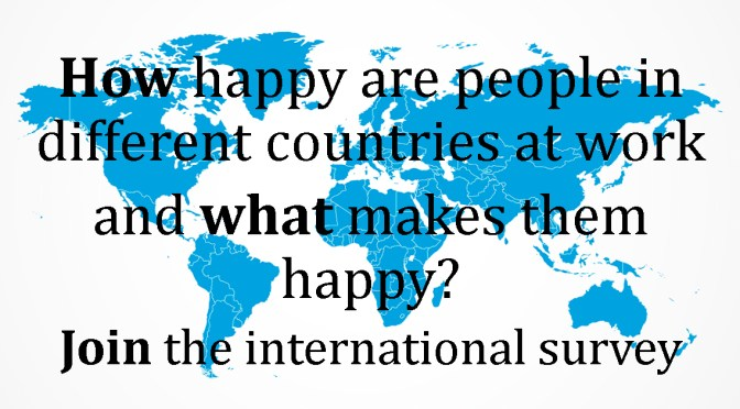 Join our international survey on happiness at work