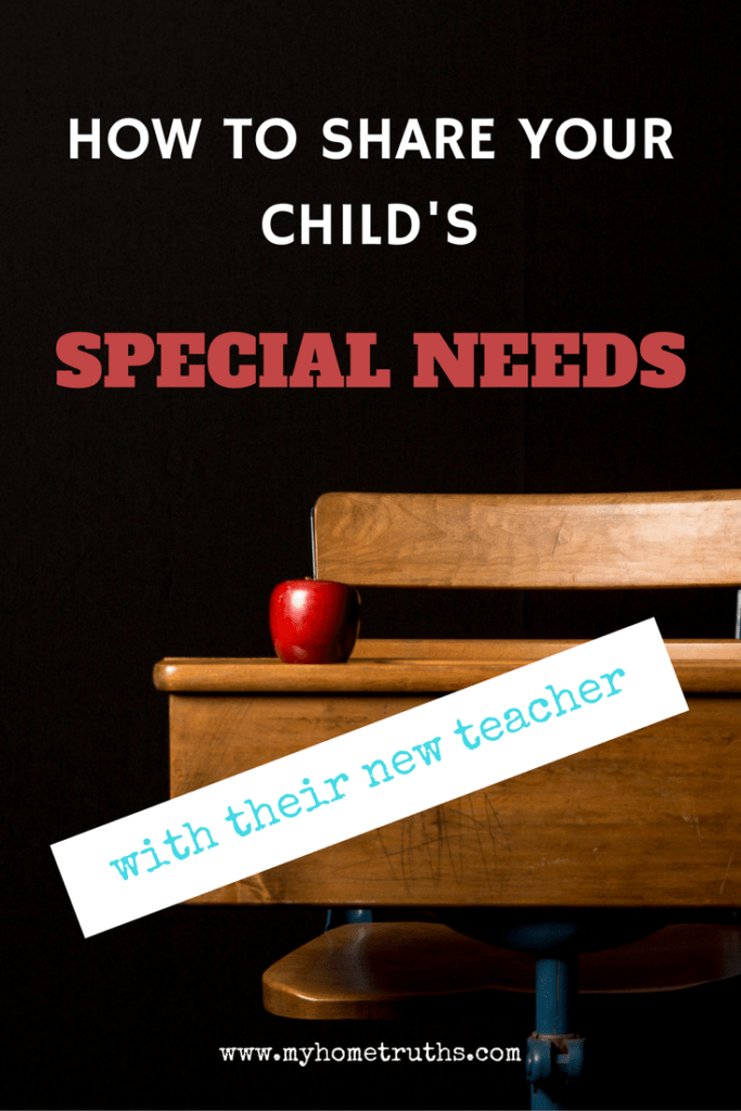 How to share your child's special needs with their new teacher